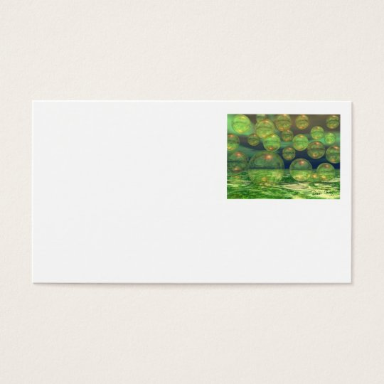 Spring Creation – Green & Gold Renewal Business Card