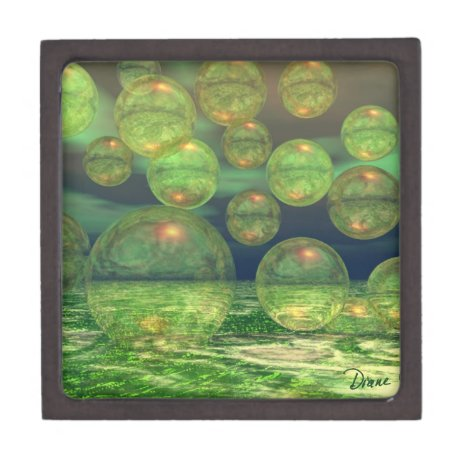 Spring Creation – Green & Gold Renewal Keepsake Box