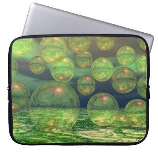 Spring Creation – Green & Gold Renewal Laptop Sleeve