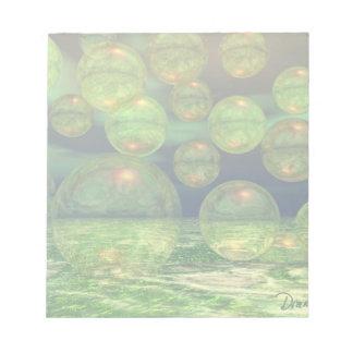 Spring Creation – Green & Gold Renewal Notepad