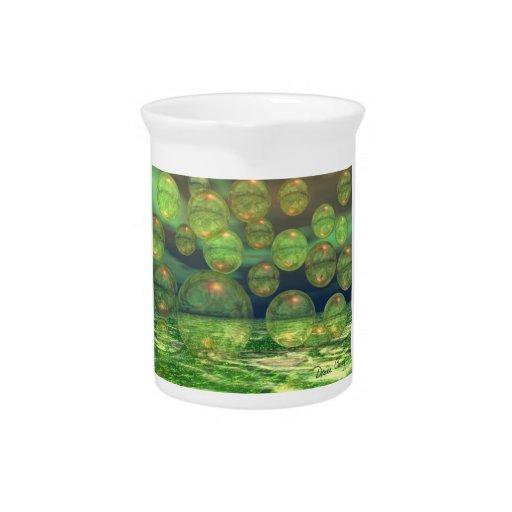 Spring Creation – Green & Gold Renewal Beverage Pitcher