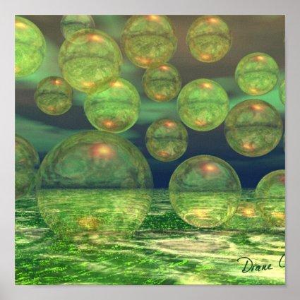 Spring Creation – Green & Gold Renewal Print