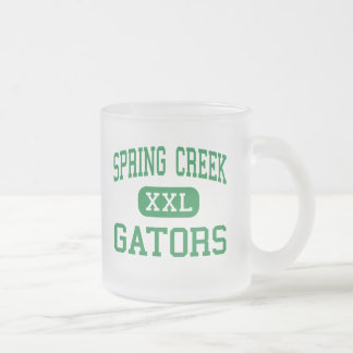 Spring Creek - Gators - Middle - Seven Springs 10 Oz Frosted Glass Coffee Mug