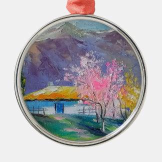 Spring Crimea Metal Ornament