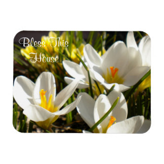 """Spring Crocus """"Bless This House"""" Magnet"""