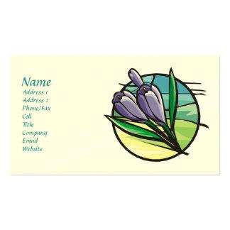 Spring Crocus Business Cards