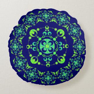 Spring Crop Circle Paranormal UFO Geek Round Pillow
