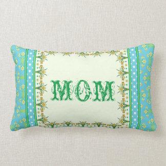 Spring Daffodil Border, Polka Dots Lumbar Pillow