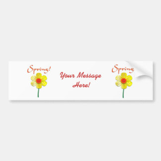 Spring Daffodil Bumper Sticker