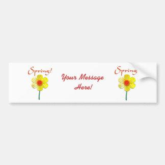 Spring Daffodil Car Bumper Sticker