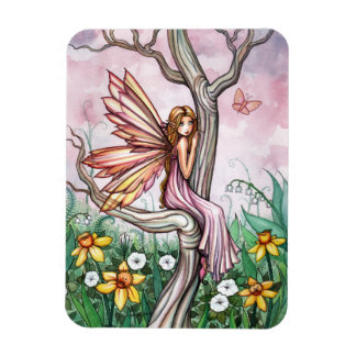 Spring Daffodil Flower Fairy Magnet