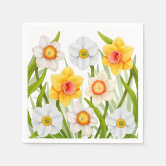 Spring Daffodil Flowers Napkins