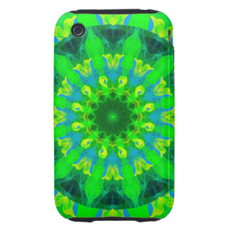 Spring Daffodil, Green Blue Yellow Flower Dance iPhone 3 Tough Case