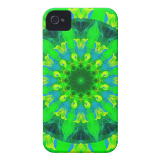 Spring Daffodil, Green Blue Yellow Flower Dance iPhone 4 Case-Mate Case