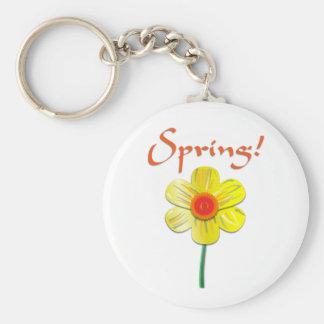 Spring Daffodil Key Chain