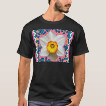 Spring Daffodil, Teal & Pink Pattern Gifts T-Shirt