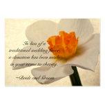 Spring Daffodil Wedding Charity Card Business Card