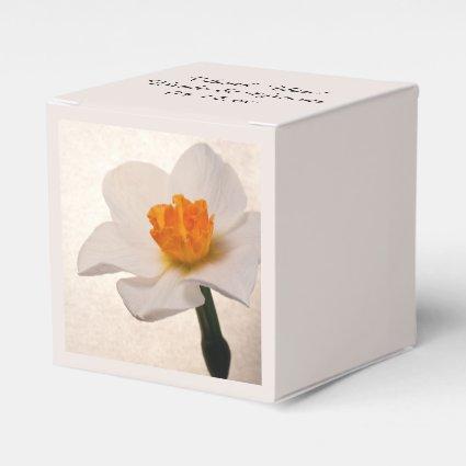 Spring Daffodil Wedding Favor Box