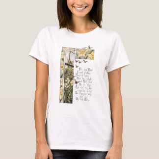 Spring Daffodils & Butterflies Vintage Easter T-Shirt