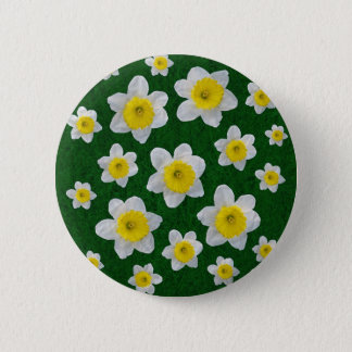 Spring Daffodils Button