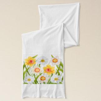 Spring Daffodils Floral Scarf
