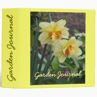 "Spring Daffodils Garden Journal - Avery 2"" Binder"