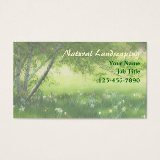 Spring Daffodils Landscaping Business Card