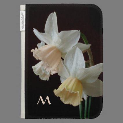 Spring Daffodils Monogram Kindle Cover