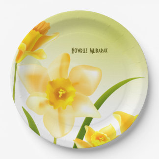 Spring Daffodils Persian New Year Paper Plate