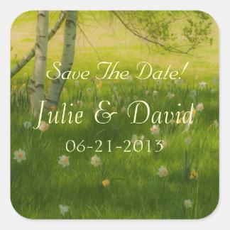 Spring Daffodils Square Sticker