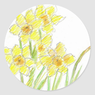 Spring Daffodils Sticker Yellow Flower Watercolor