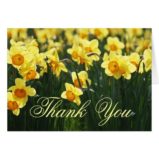 Spring Daffodils Thank You Card