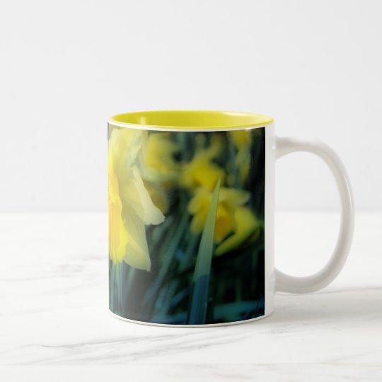 Spring Daffodils Two-Tone Coffee Mug