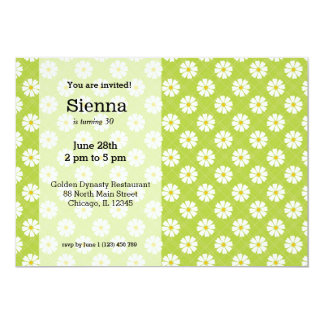 Spring Daisies 5x7 Paper Invitation Card