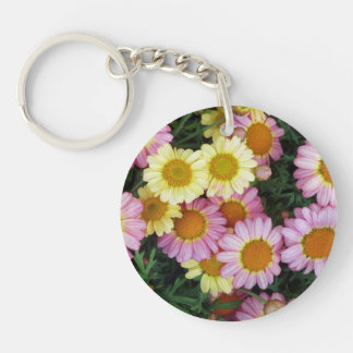 Spring Daisies Blooming Key Chain
