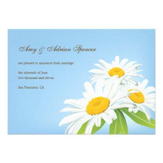 Spring Daisies Wedding Announcement Card