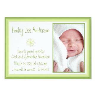 Spring Daisy Birth Announcement