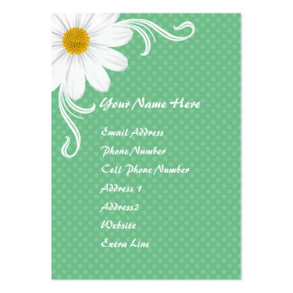 Spring Daisy Chubby Profile Card Business Card Templates