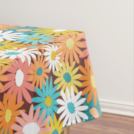 Spring daisy flowers tablecloth