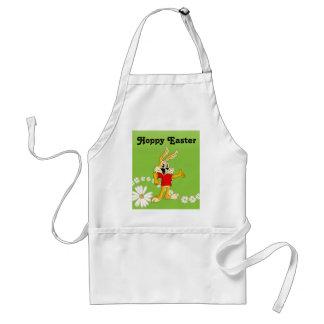 Spring Daisy Hoppy Easter Bunny Adult Apron