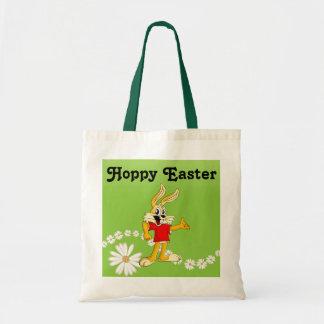 Spring Daisy Hoppy Easter Bunny Tote Bag