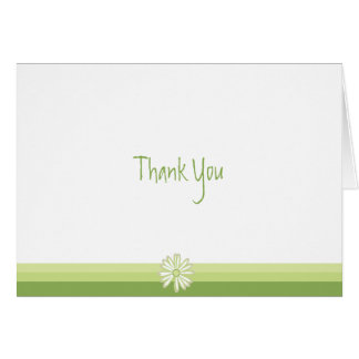 Spring Daisy Thank You Note Card