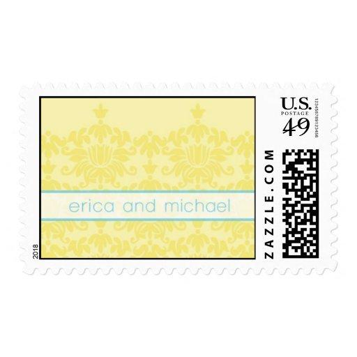 Spring Damask Postage Stamps