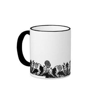 Spring Dandelion Border Coffee Mug