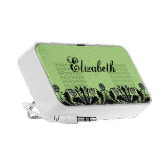 Spring Dandelion Border Doodle Portable Speaker