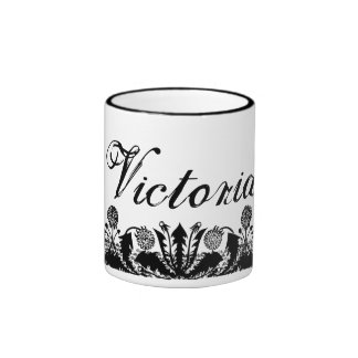 Spring Dandelion Border Personalised Coffee Mug