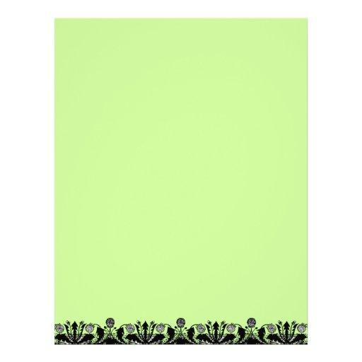 Spring Dandelion Border Recycled Letterhead Paper