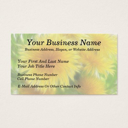 Spring Dandelion Bouquet Business Card