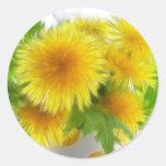 Spring Dandelion Bouquet Classic Round Sticker