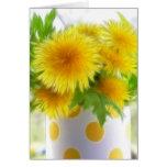 Spring Dandelion Bouquet Greeting Card